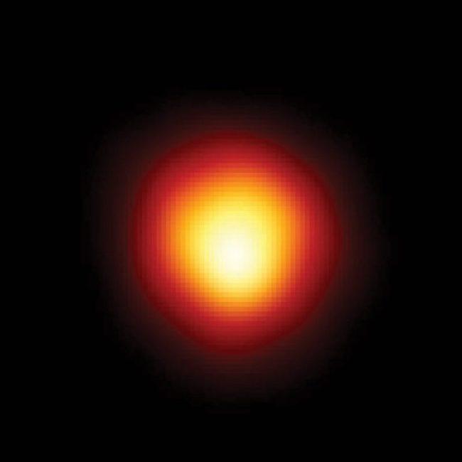 Betelgeuze in ultraviolet licht door de Hubble Space Telescope