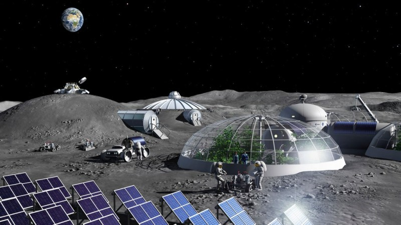 Toekomstige basis op de Maan