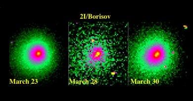 Komeet Borisov breekt in stukken
