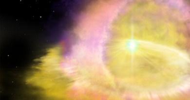 Artist impressie van een supernova