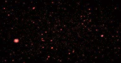 Hubble artist impressie van het jonge heelal