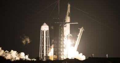 lancering Crew-1 met een Falcon 9 raket