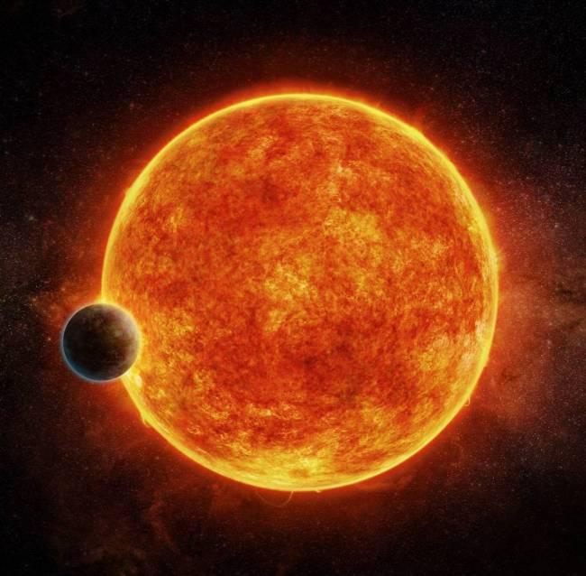 De exoplaneet LHS 1140b en zijn ster
