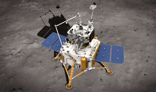 Chang'e 5 op de Maan