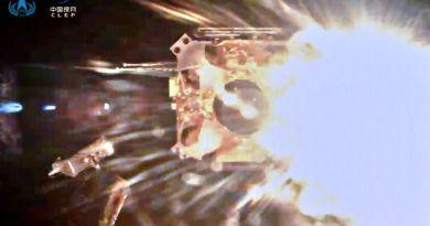 Chang'e 5 stijgt op van de Maan