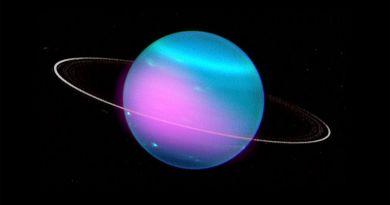Compositieafbeelding van Uranus