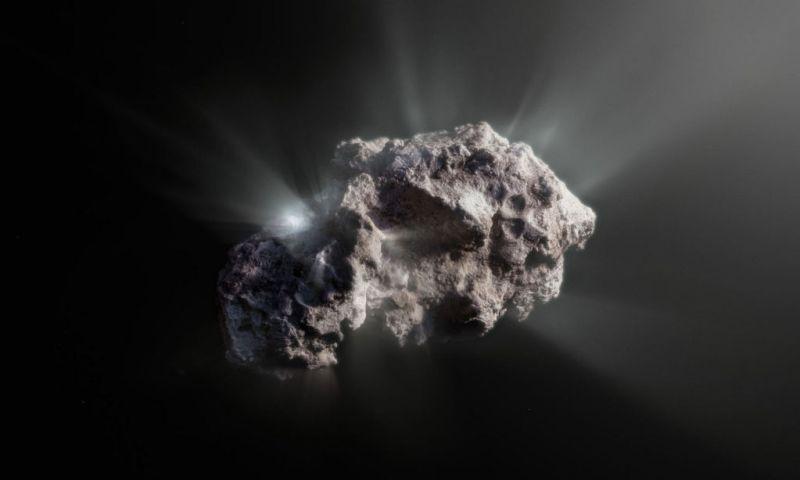 Artist impressie van komeet 2I/Borisov