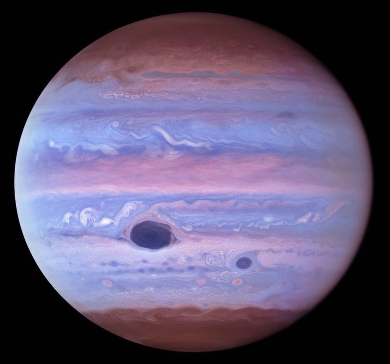 Jupiter in ultraviolet licht