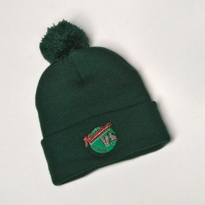 Jazz Cat Pom Pom Beanie Green