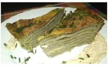 Slana torta sa integralnim palačinkama i spanaćem