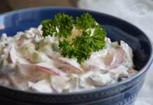 Salata od rotkvica i mladog luka - prava uz roštilj