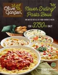 Kuwait Local   Never Ending Pasta Bowl Olive Garden Restaurant