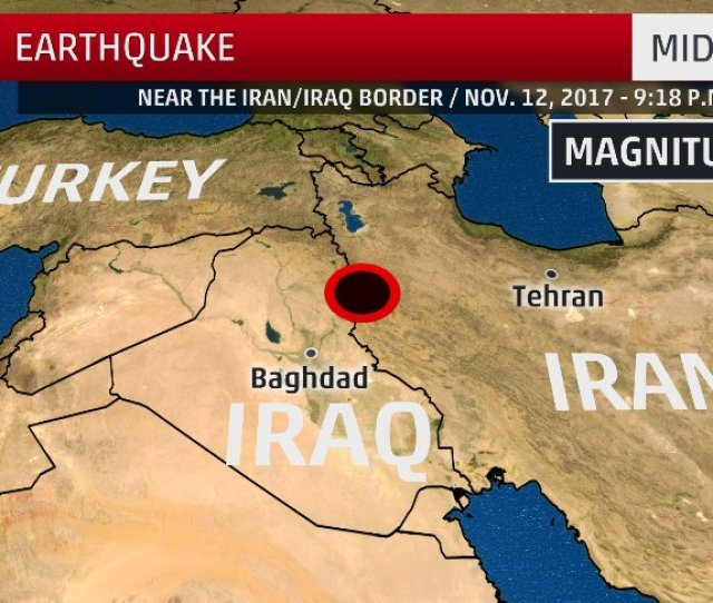 An Official From The Iraqi Meteorology Department Said The Quake Could Be Felt Across Large Parts Of Iraq But Reported The Magnitude To Be Around 6 5