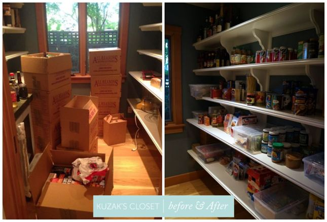 Kuzak's Closet Organized Pantry after a Relocation