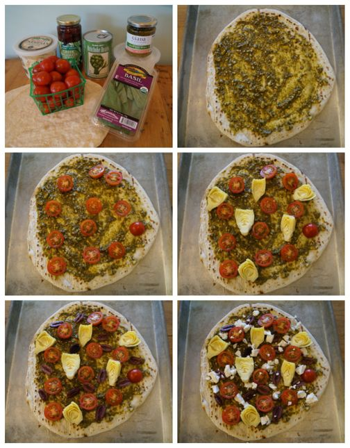 Simple Mediterranean Pizza Directions