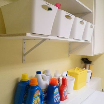 Organized Laundry Room with Before and Afters