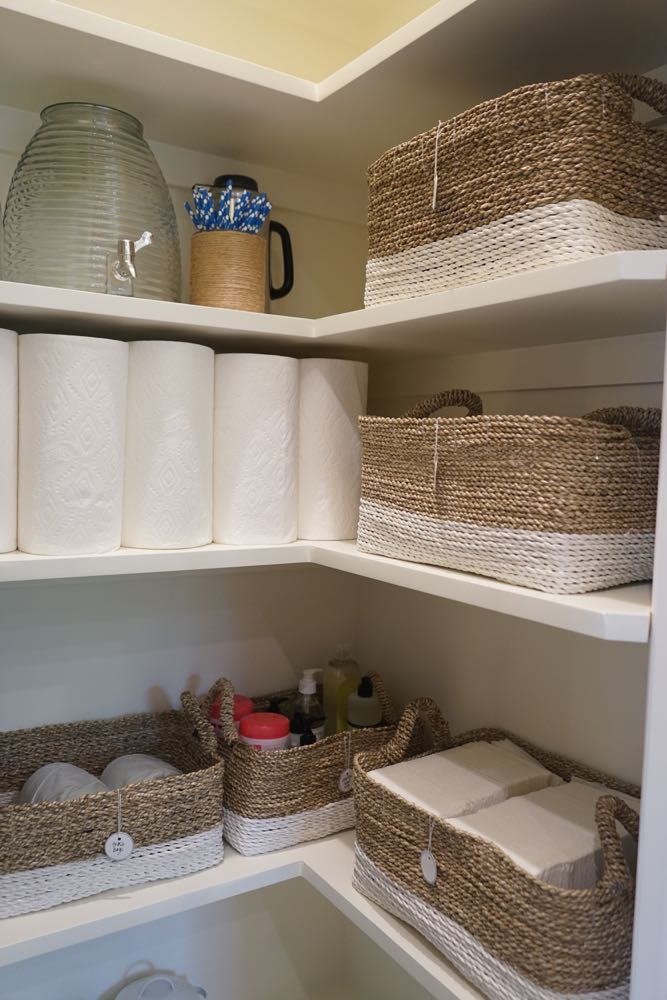 Nautical Baskets for Perfect Pantry Overflow Storage