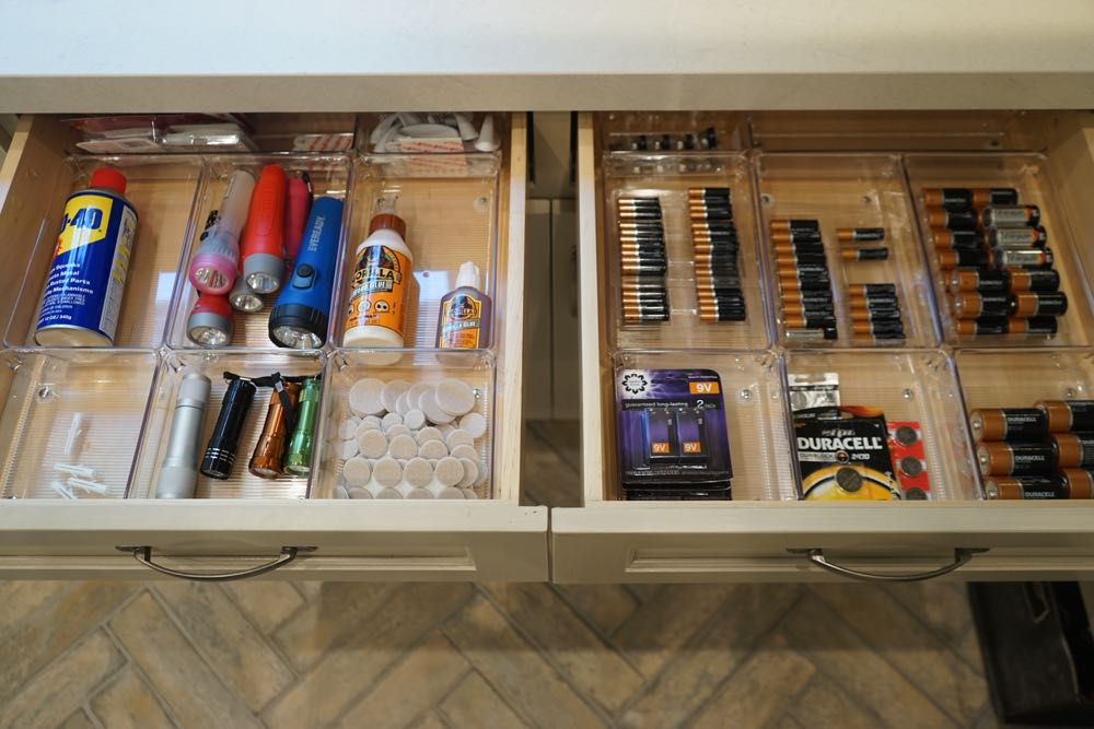 Organized Mud Room Junk Drawers