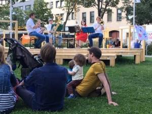 """Frech's Blech spielte für den Kulturverein Rudolfsheim auf der """"Gürtelfrische WEST""""(Foto: zVg)."""
