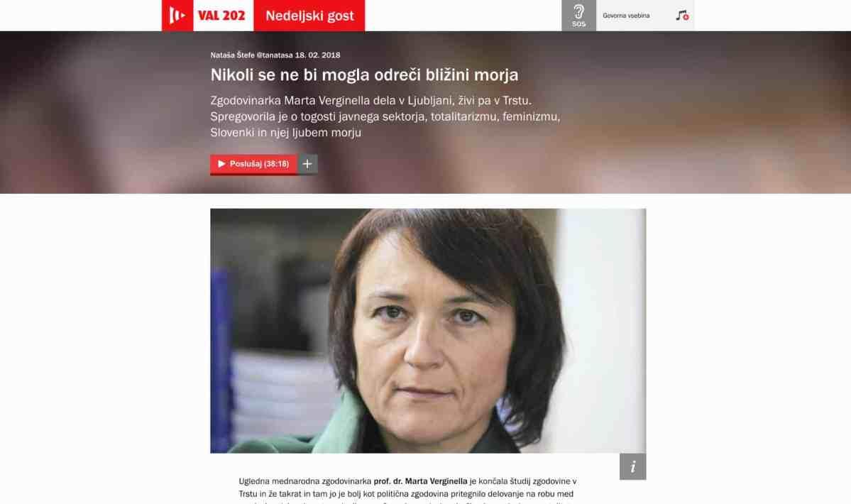 Intervju z zgodovinarko Marto Verginella