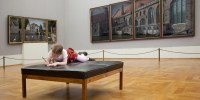 Girl at the museum