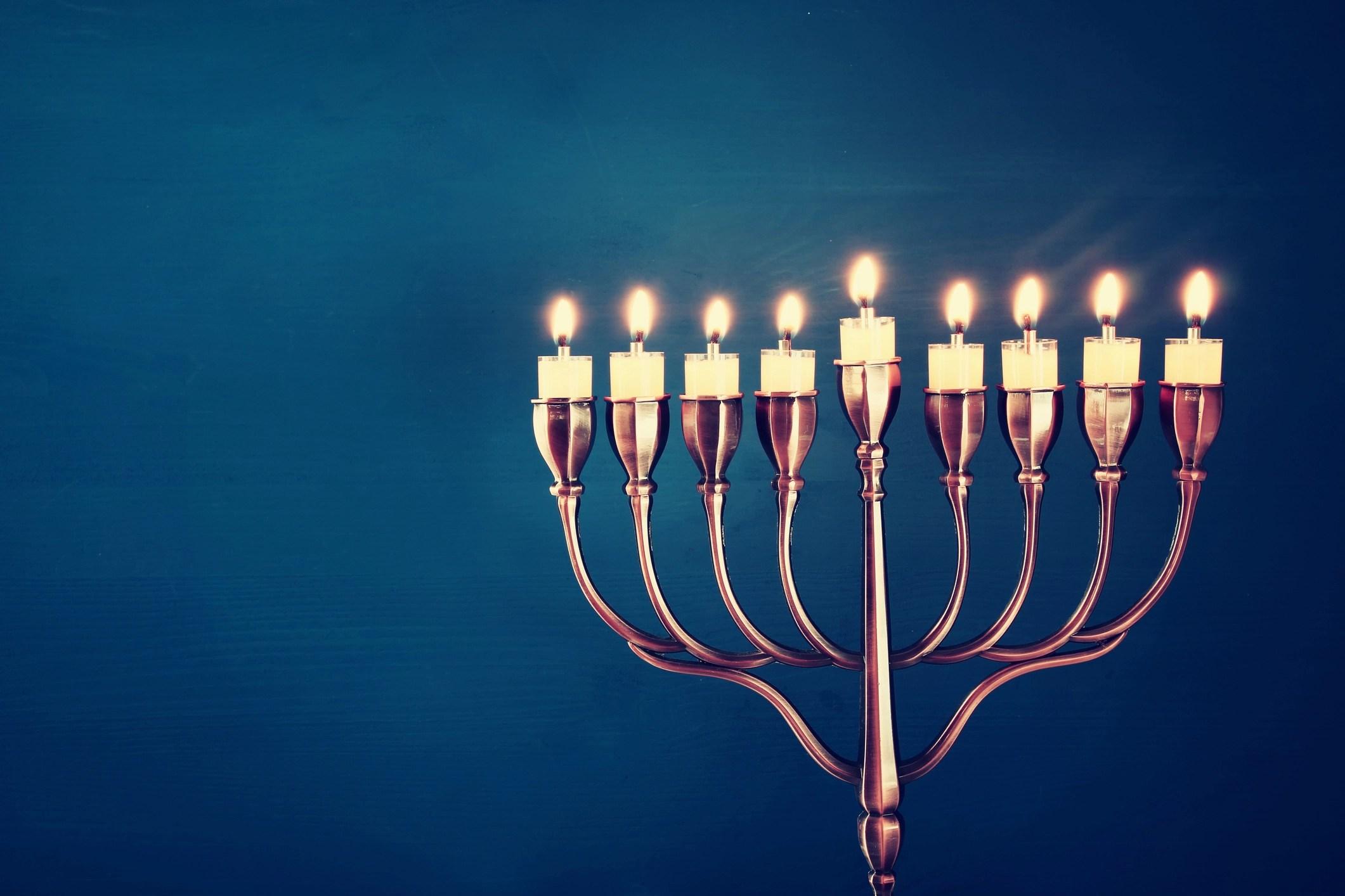 Image of jewish holiday Hanukkah background with menorah (traditional candelabra) and burning candles & Top 10 Hanukkah Songs u2013 Kveller azcodes.com