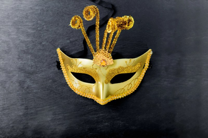 Carnival mask on a black background