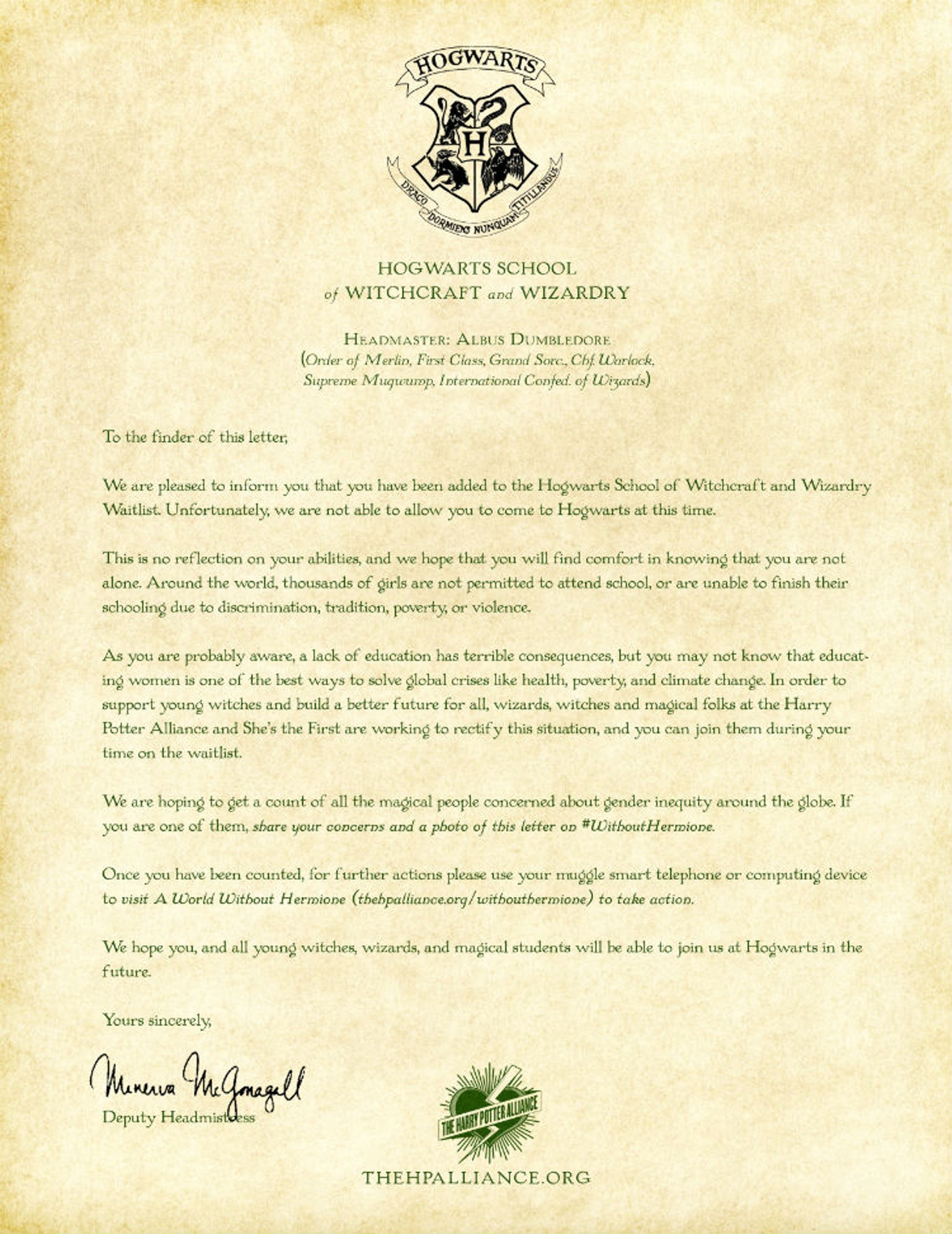 This Hogwarts Rejection Letter Is Going Viral For A Good Reason