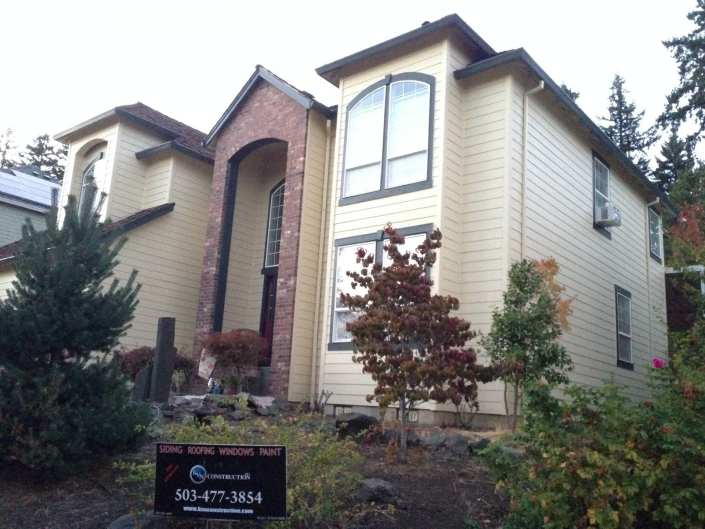 James Hardie siding with exterior Sherwin Williams paint