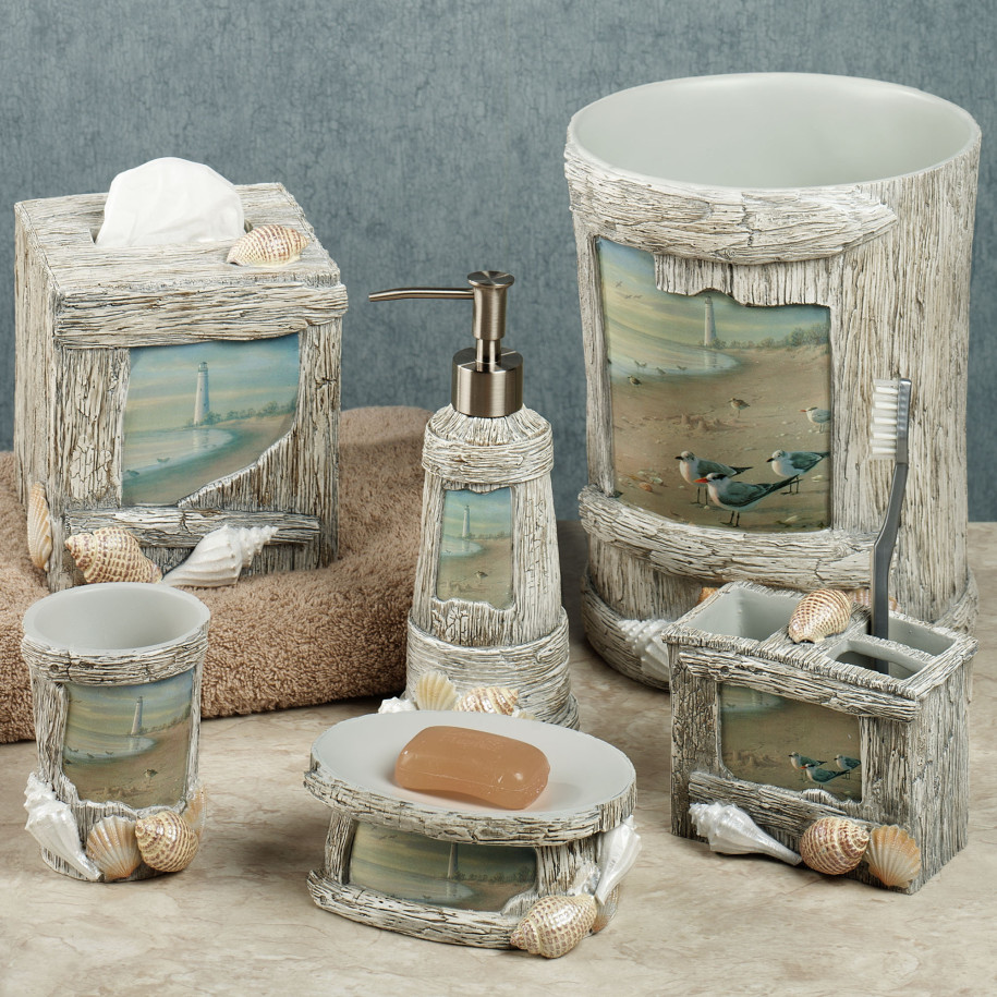 Bring the Ocean in with Lighthouse Bathroom Dcor