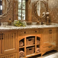 Rustic Bathroom Dcor Ideas for a Country Style Interior