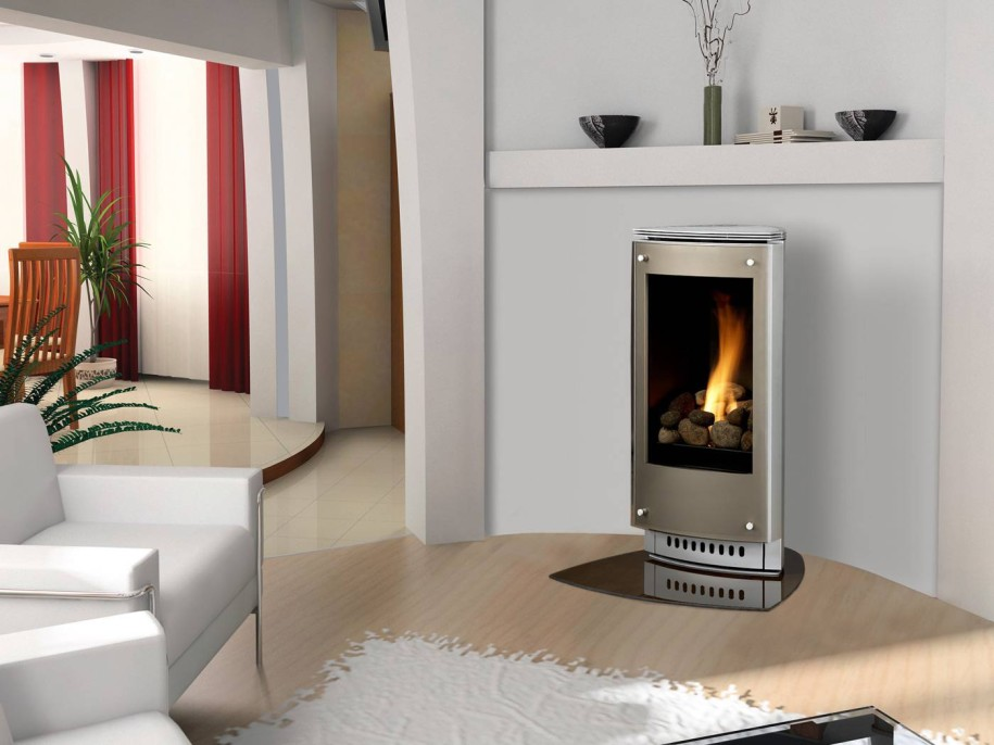Free Standing Gas Fireplace Home Installation Process  KVRivercom