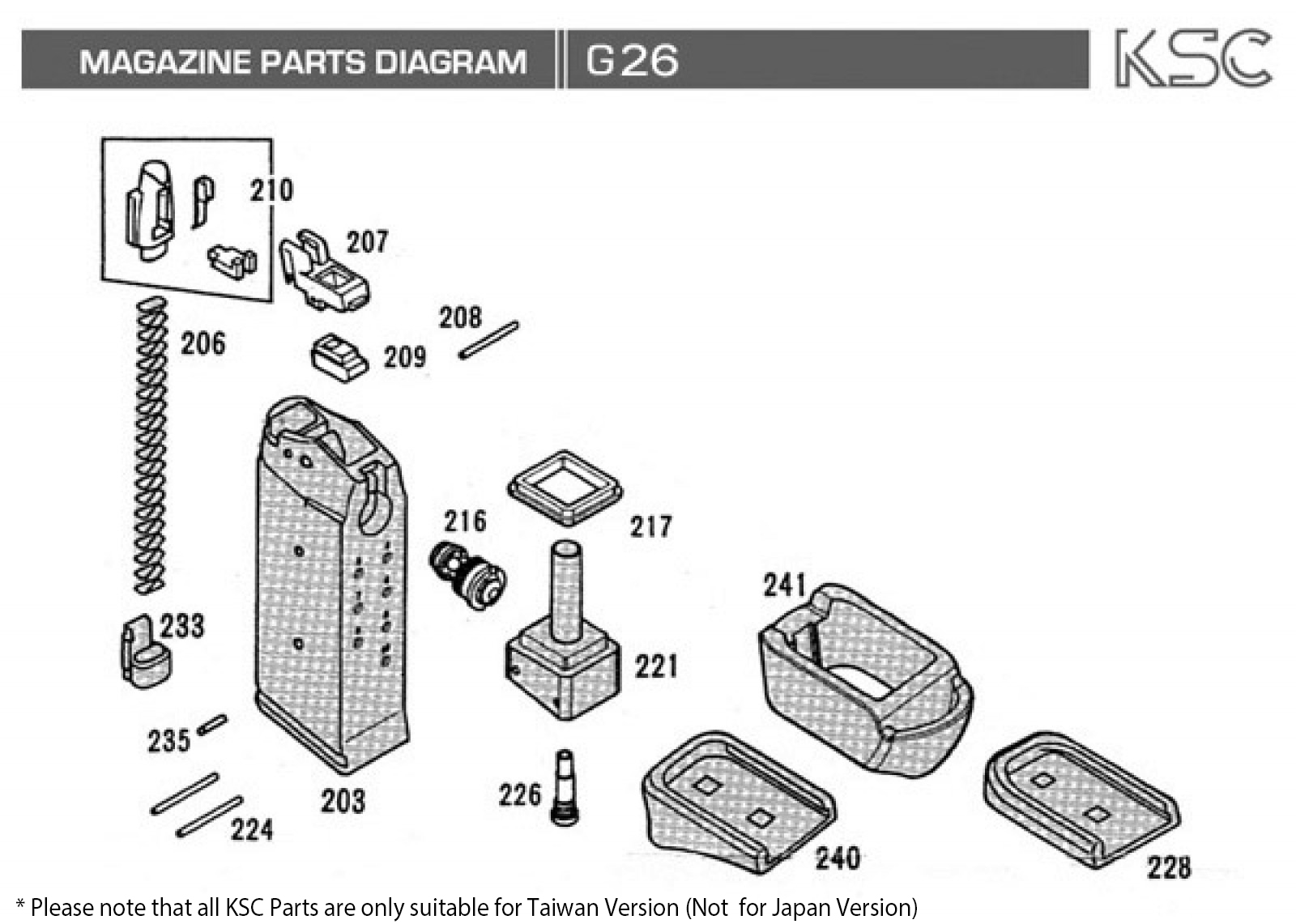 glock 23 disassembly diagram chinese mini chopper wiring slide get free image about