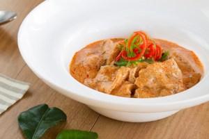 Curry panang con cerdo, curry panang, curry, curry tailandés