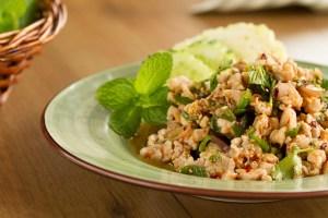 Ensalada de pollo Thai, Ensalada de pollo, ensalada tailandesa, cocina tailandesa