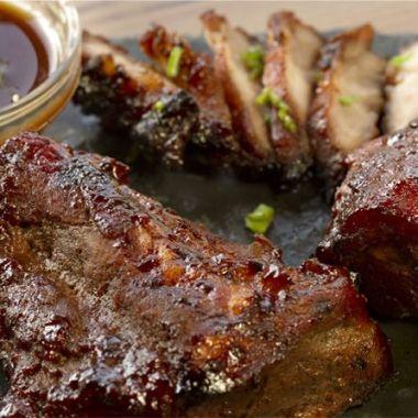 Cerdo char siu,cerdo a la barbacoa chino, cocina china, cocina asiática, cocina tailandesa