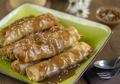 Roll de plátano, plátano, rollitos, cocina tailandesa, cocina asiática