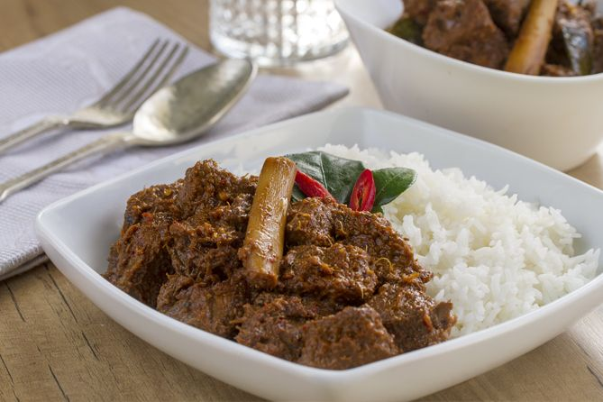 Rendang, curry, curry de ternera,