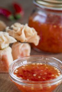 Salsa de chilidulce, salsa agridulce, cocina tailandesa, cocina asiática