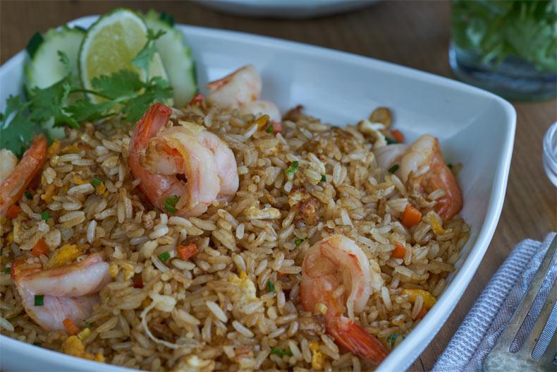 Arroz Frito Con Langostinos Estilo Thai ข าวผ ดก ง Kwan Homsai