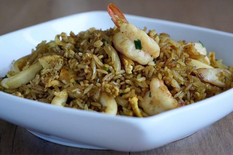 Arroz frito con curry, Arroz frito