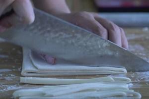 udon, fideos tipo udon, fideos, udon casero, como hacer udon, fideos japoneses, cocina japonesa