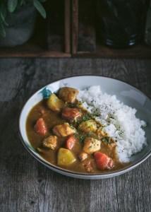 Curry japonés con pollo
