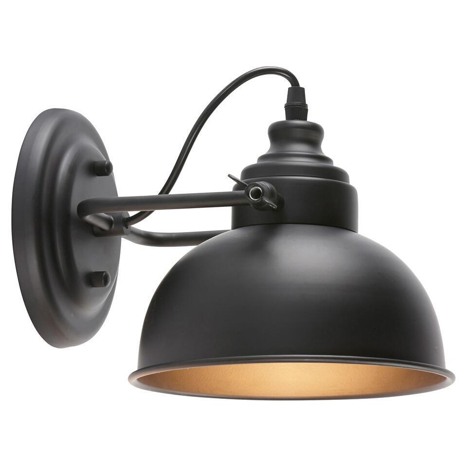 Wandlamp Indi Zwart  Kwantum