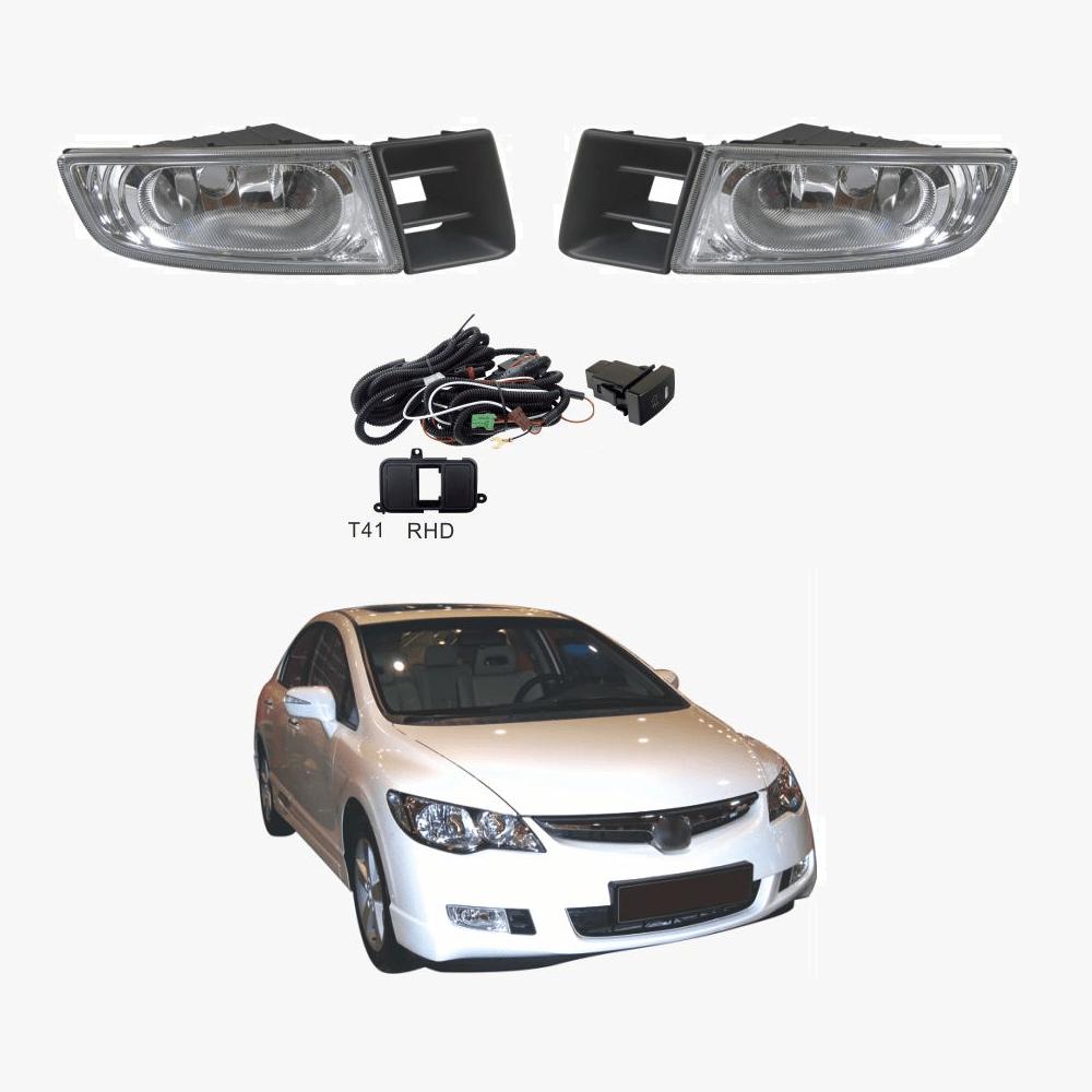 hight resolution of fog light kit for honda civic fd sedan series 1 02 06 12 08 with wiring switch