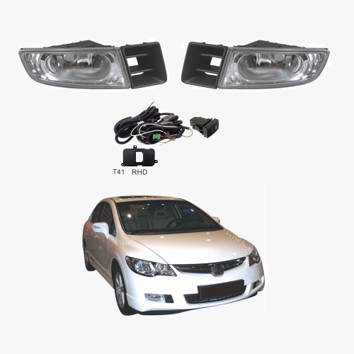 small resolution of fog light kit for honda civic fd sedan series 1 02 06 12 08 with wiring switch