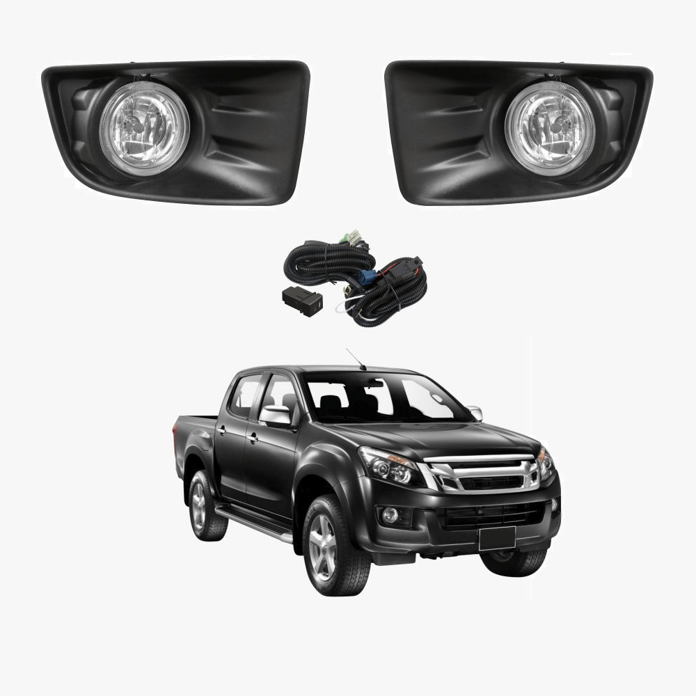 hight resolution of fog light kit for isuzu d max 2012 2016 with wiring switch