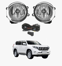 fog light kit for toyota landcruiser prado 150 2014 2017 with wiring switch [ 1000 x 1000 Pixel ]