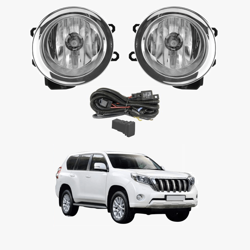 hight resolution of fog light kit for toyota landcruiser prado 150 2014 2017 with wiring switch