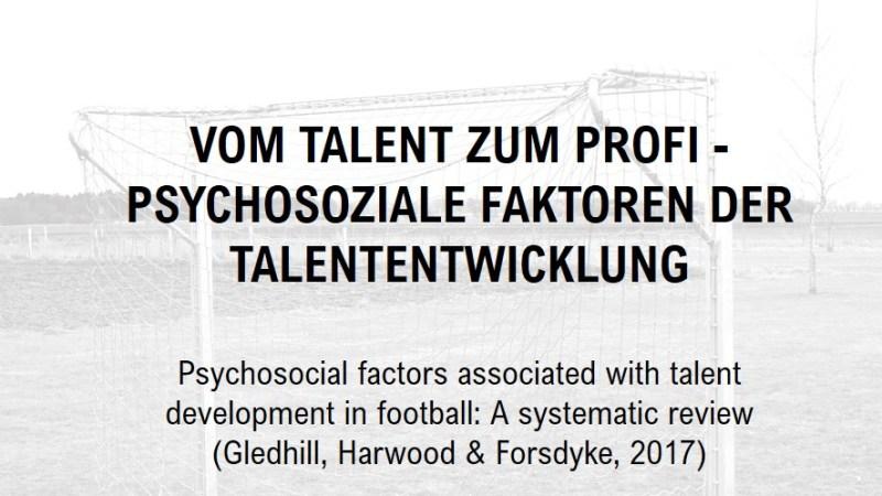 Vom Talent zum Profi – Psychosoziale Faktoren der Talententwicklung
